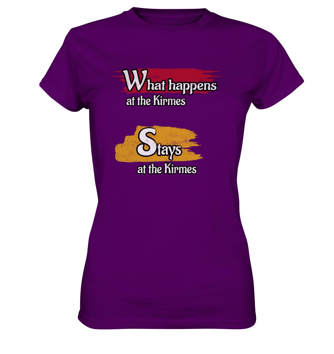 What happens at the Kirmes -  Ladies Premium Shirt