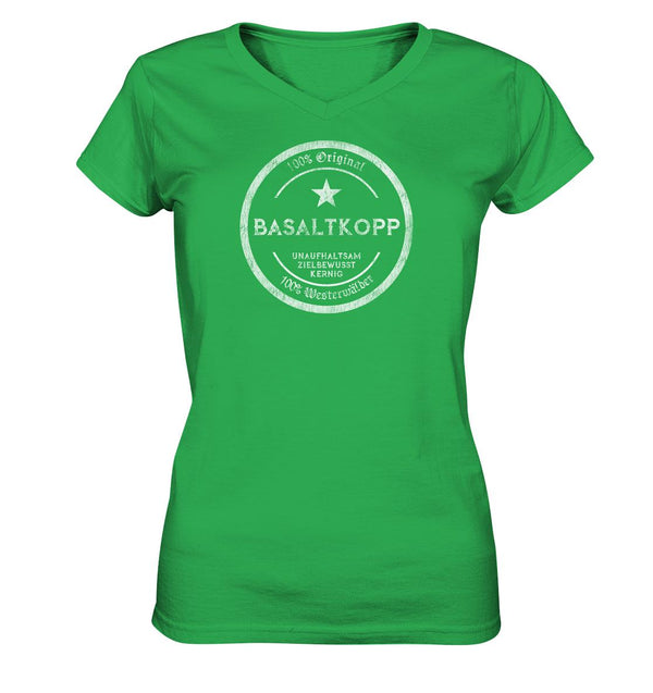 Basaltkopp -  Ladies V-Neck Shirt