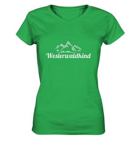 Image of Westerwaldkind -  Ladies V-Neck Shirt