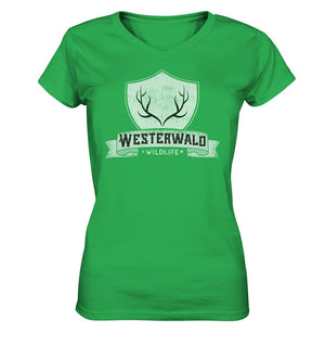 Westerwald Wildlife -  Ladies V-Neck Shirt