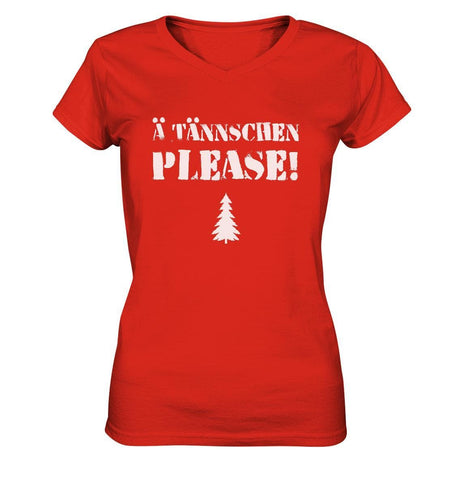 A Tännschen please-Ladies V-Neck Shirt