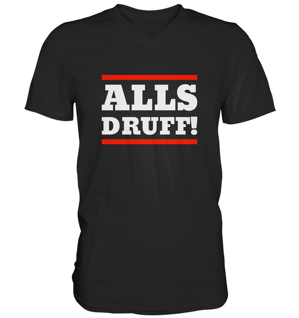 Alls druff! -Mens V-Neck Shirt