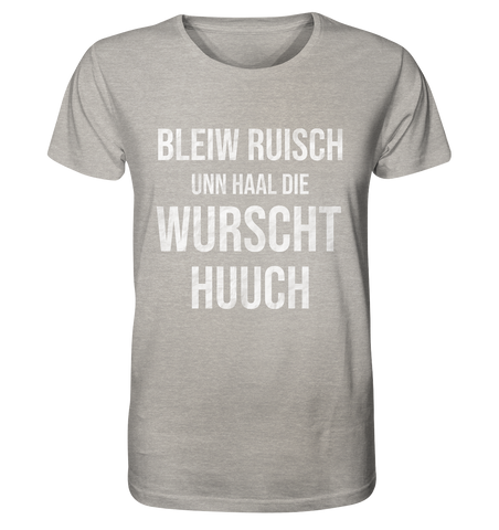 Image of Ab hauh wird alles anners! - Organic Shirt (meliert)