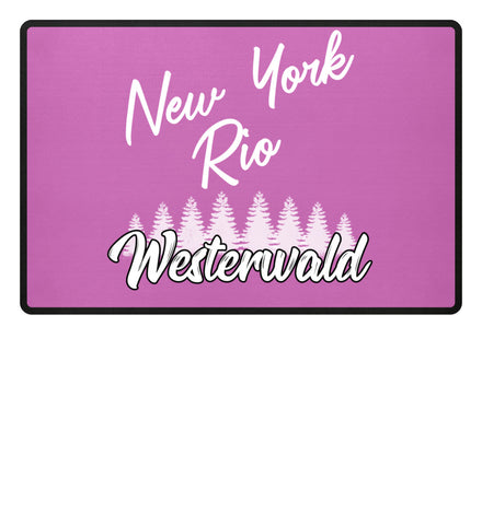 Image of New York, Rio, Westerwald  - Fußmatte