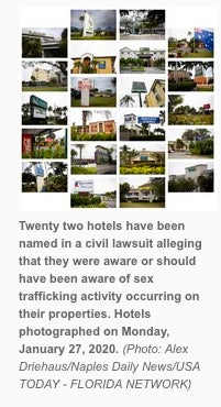22 Collier County hotels, motels accused of permitting sex trafficking, lawsuit claims in Naples, Florida