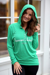 Long Sleeve Hoodie (Human Kind, be both)