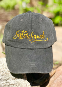 Sister Squad Hat (charcoal or white)
