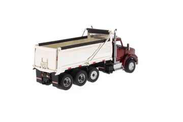 1/50 Scale Kenworth T880 SBFA Dump Truck - Radiant Red/Chrome