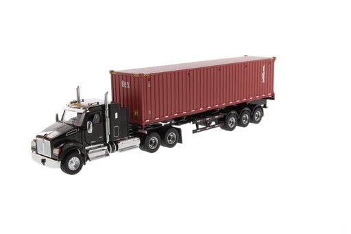 *PRE-ORDER DEPOSIT*  1:50 Kenworth T880 w/ 40in Sleeper and 40' Container - Black/TEX Red