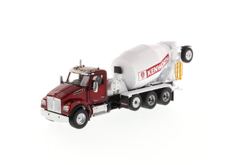 1/50 Scale Kenworth T880 SBFA Concrete Mixer - Radiant Red/White