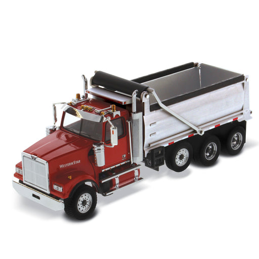 1:50 Western Star 4900 SF Dump Truck - Red/Silver