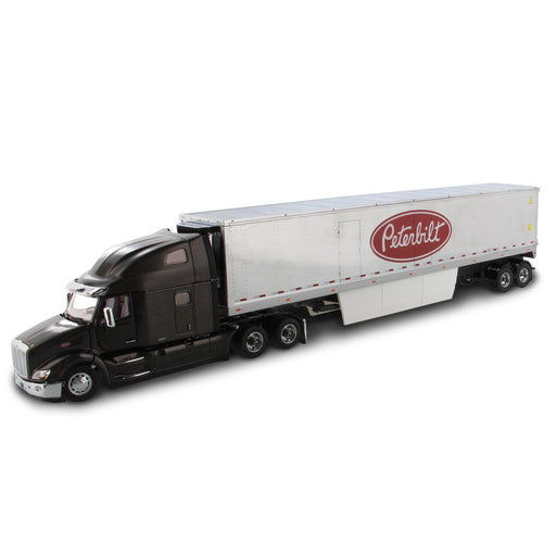 1:50 Peterbilt 579 UltraLoft Tractor with 53' Refrigerated Van - Legendary Black/Chrome Van