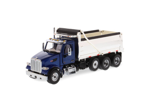 1:50 Peterbilt 567 Dump Truck - Legendary Blue w/ Chrome Dump Body