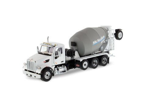 1:50 Peterbilt 567 with McNeilus Bridgemaster Mixer - White/Gray