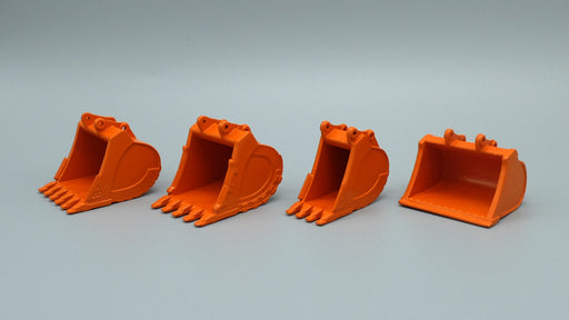 45 Ton Coupler/Thumb/Bucket Set - Hitachi Orange