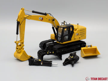1/50 Scale Cat 323 Next Gen Excavator w/ 5 Attachments