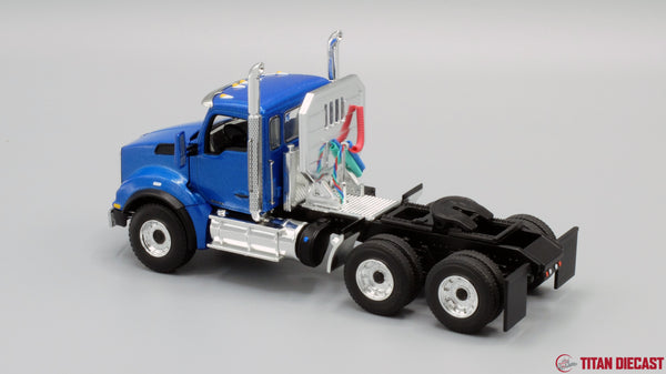 IN STOCK - 1/50 Scale Kenworth T880 w/ East Genesis Dump Trailer - Surf Blue/Chrome