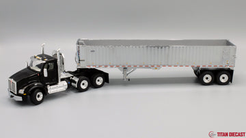 IN STOCK - 1/50 Scale Kenworth T880 w/ East Genesis Dump Trailer - Black/Chrome