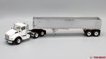 IN STOCK - 1/50 Scale Kenworth T880 w/ East Genesis Dump Trailer - White/Chrome