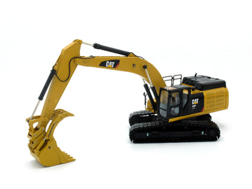 45 Ton Rockland Krypto Klaw® Bucket w/ Coupler - Cat Yellow (Fits Diecast Masters Cat 349F)