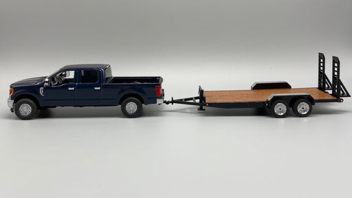 First Gear Ford F250 w/ Tag Trailer - Blue/Black