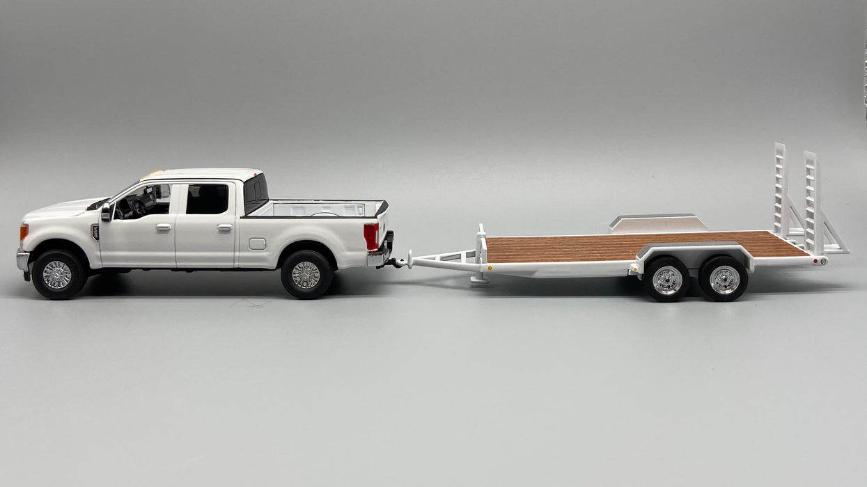 First Gear Ford F250 w/ Tag Trailer - White