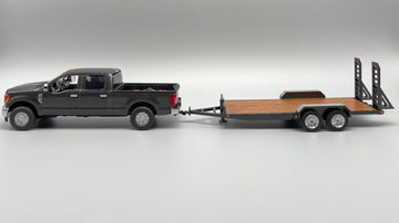 1/50 Scale Ford F250 w/ Tag Trailer - Magnetic