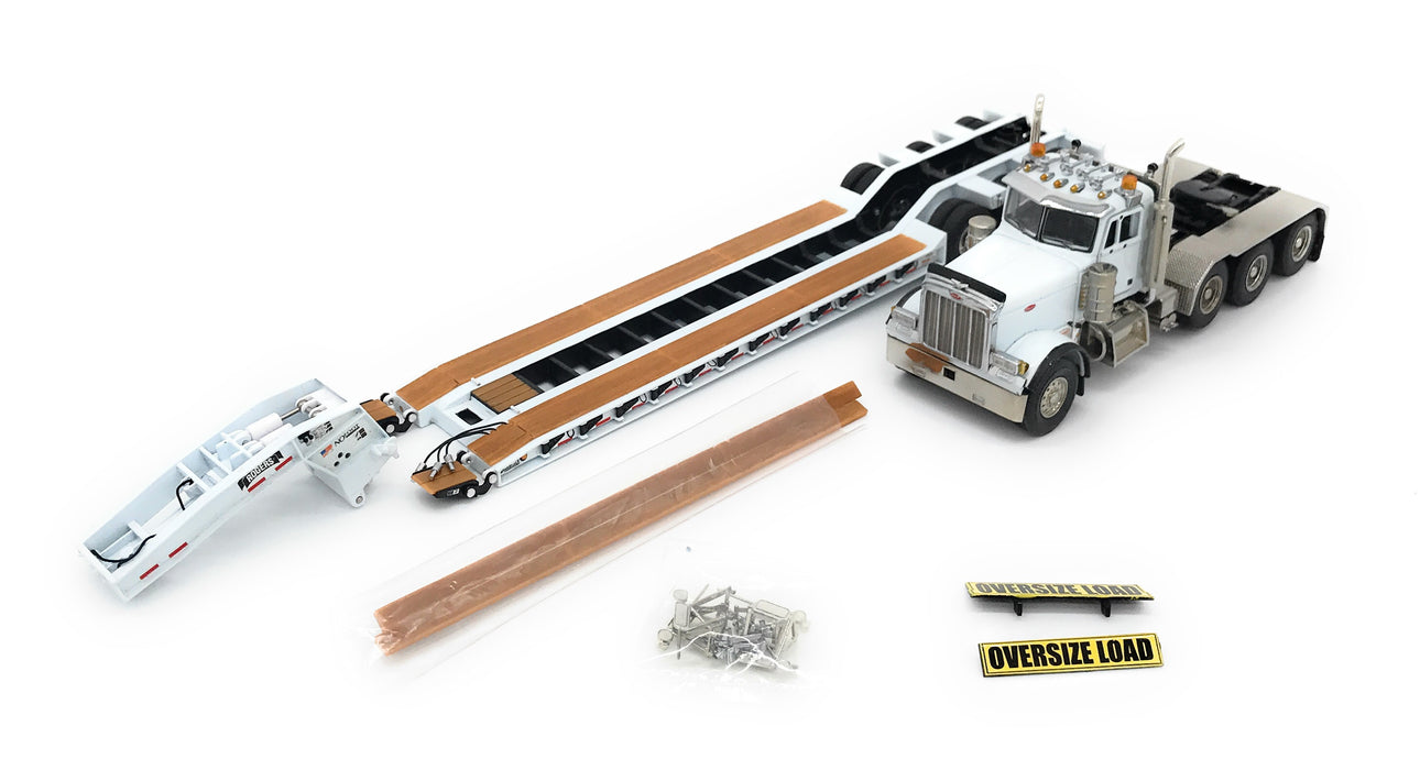 TWH Sword Peterbilt 379 w/ Rogers 3 Axle Lowboy - Assorted Colors