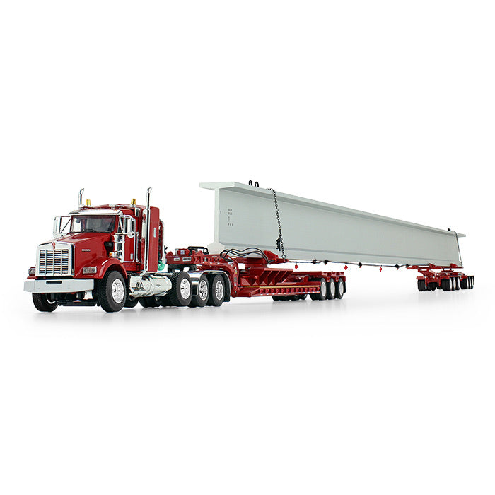 *DEPOSIT* DCP Kenworth T800 w/ Fontaine Beam Hauler Trailer - Red