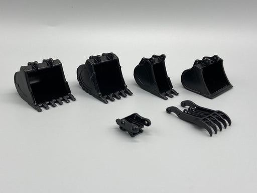 35 Ton Coupler/Thumb/Bucket Set - Black