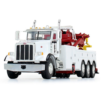 1/50 Scale Peterbilt 367 w/ Century Rotator Body - White/Red/Yellow