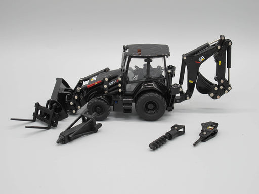 Diecast Masters Cat 420F Backhoe - Special Black Finish