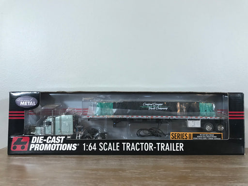 "1/64 Scale DCP #31073 Peterbilt 379 w/ Flatbed ""Central Oregon Truck Company"" NIB"
