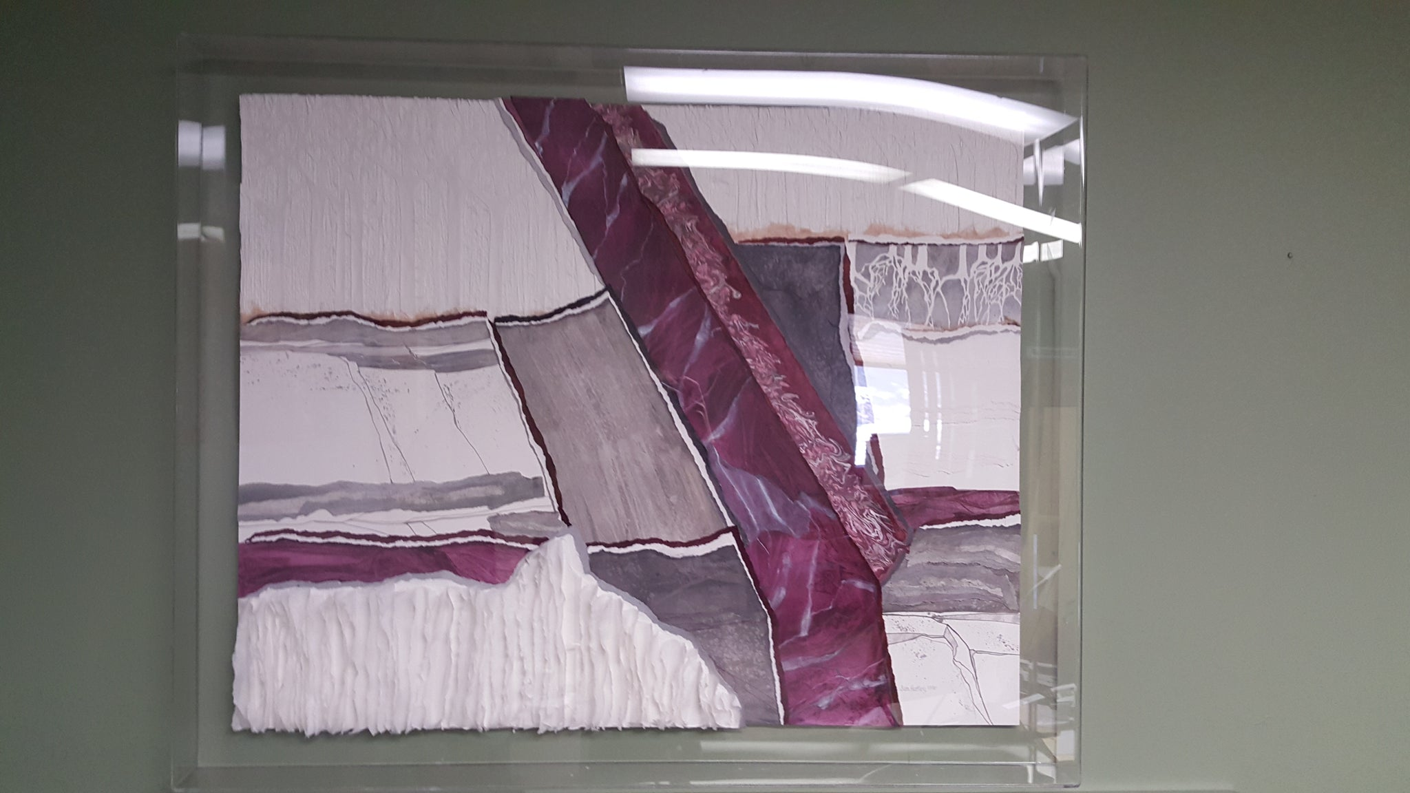 Excellent Jan Hartley Abstract Layered Fabric Artwork With Case Mpls Download Free Architecture Designs Embacsunscenecom