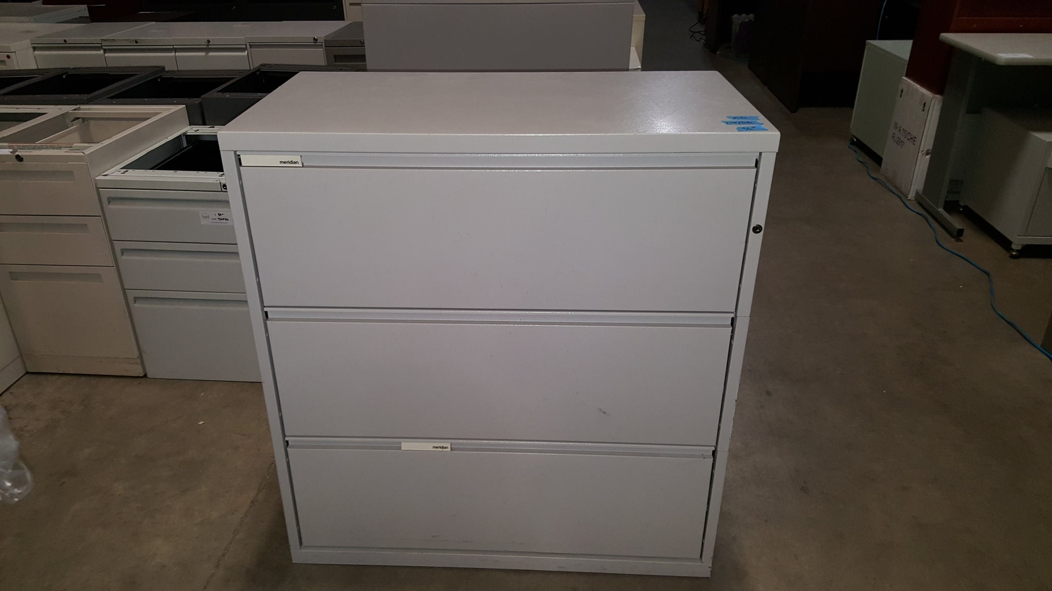 Meridian 3 Drawer Lateral File Cabinet Used Office Furniture In Mn