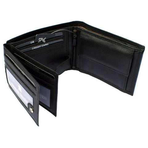 Leather Wallet Bifold 2 Flaps Horizontal