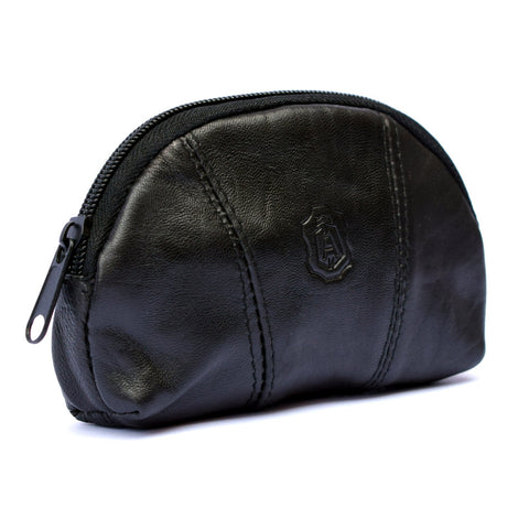 Leather Coin Purse Zip Around
