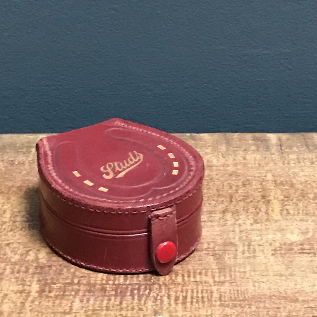 SOLD - Vintage Leather Stud Box