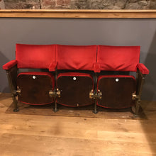 SOLD - Set of three, theatre seats with cast ends