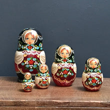 SOLD - Vintage Hand Painted Russian Doll - 5 Piece - Set