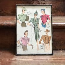 Vintage Framed Sewing Pattern, by Perfection Robes