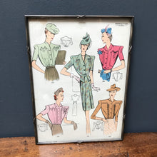 SOLD - Vintage Framed Sewing Pattern, by Perfection Robes