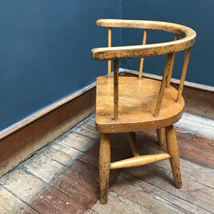 SOLD - Victorian Child's Spindle Back Chair