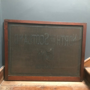 SOLD - Antique North of Scotland Bank Limited Sign