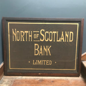 Antique North of Scotland Bank Limited Sign