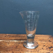 SOLD - Vintage Chemist Glass Apothecary Measure