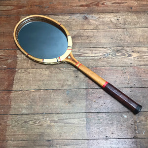 "SOLD - Vintage ""Spalding"" Tennis Racket Mirror"