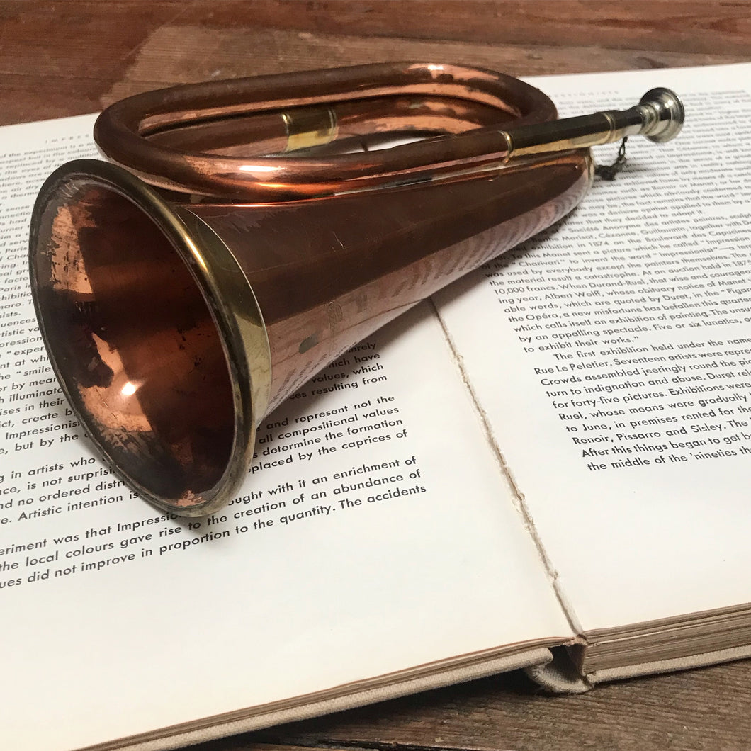 SOLD - Vintage Copper & Brass Military Bugle