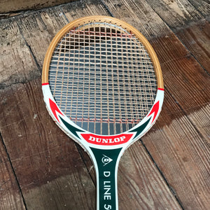 "SOLD - Vintage ""Dunlop"" Tennis Racket Mirror"