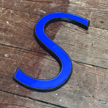 NEW - Original 1920's Brass & Enamel 'S' Letter